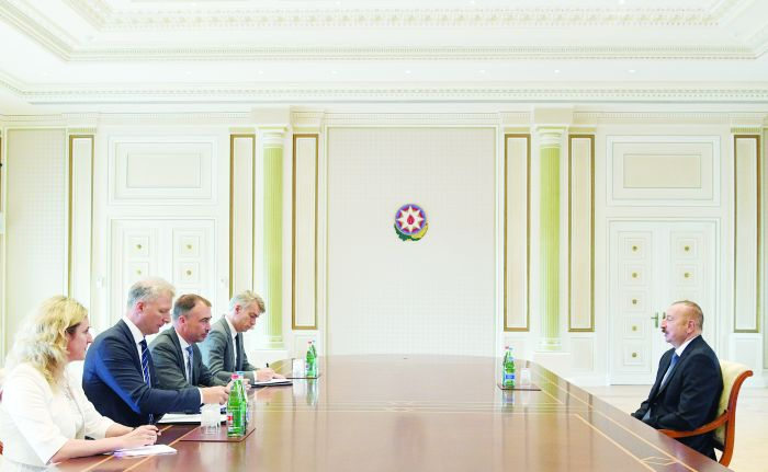 President Ilham Aliyev received delegation led by EU Special Representative