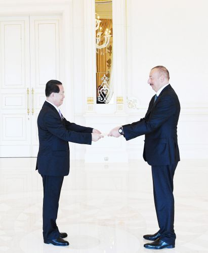 President Ilham Aliyev received credentials of incoming ambassador of Democratic People's Republic of Korea
